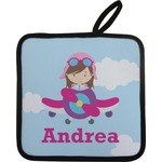 Airplane & Girl Pilot Pot Holder (Personalized)