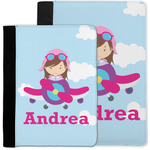 Airplane & Girl Pilot Notebook Padfolio w/ Name or Text