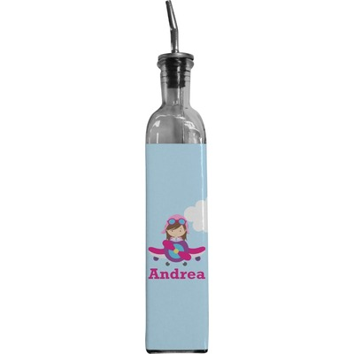 Airplane & Girl Pilot Oil Dispenser Bottle (Personalized)