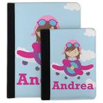 Airplane & Girl Pilot Padfolio Clipboard (Personalized)