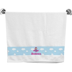 Airplane & Girl Pilot Bath Towel (Personalized)