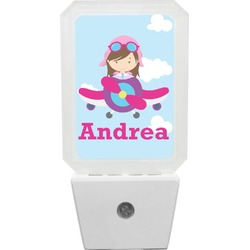 Airplane & Girl Pilot Night Light (Personalized)