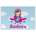 Airplane & Girl Pilot Placemat (Laminated) (Personalized)