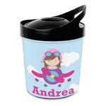 Airplane & Girl Pilot Plastic Ice Bucket (Personalized)