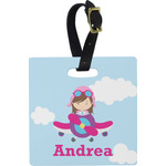 Airplane & Girl Pilot Luggage Tags (Personalized)