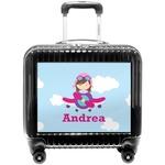 Airplane & Girl Pilot Pilot / Flight Suitcase (Personalized)