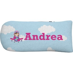 Airplane & Girl Pilot Putter Cover (Personalized)