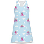 Airplane & Girl Pilot Racerback Dress (Personalized)