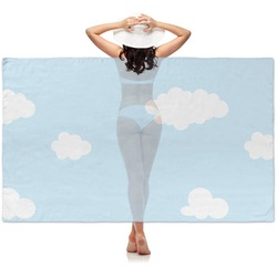 Airplane & Girl Pilot Sheer Sarong (Personalized)