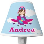 Airplane & Girl Pilot Shade Night Light (Personalized)