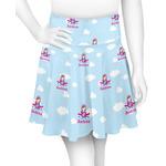 Airplane & Girl Pilot Skater Skirt (Personalized)