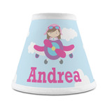 Airplane & Girl Pilot Chandelier Lamp Shade (Personalized)