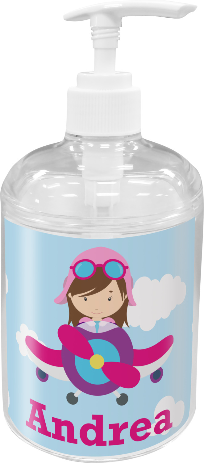 Airplane & Girl Pilot Bathroom Accessories Set (Personalized ...