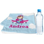 Airplane & Girl Pilot Sports & Fitness Towel (Personalized)