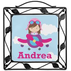 Airplane & Girl Pilot Trivet (Personalized)
