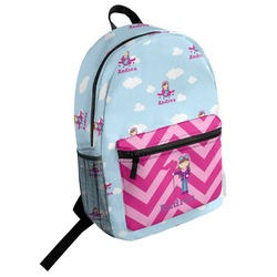 Airplane & Girl Pilot Student Backpack (Personalized)