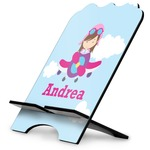 Airplane & Girl Pilot Stylized Tablet Stand (Personalized)