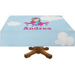 Airplane & Girl Pilot Tablecloth (Personalized)