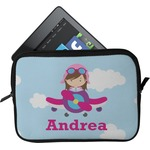 Airplane & Girl Pilot Tablet Case / Sleeve (Personalized)