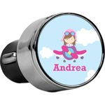 Airplane & Girl Pilot USB Car Charger (Personalized)