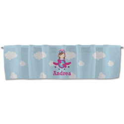 Airplane & Girl Pilot Valance (Personalized)