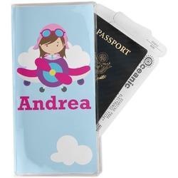 Airplane & Girl Pilot Travel Document Holder