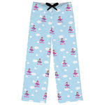 Airplane & Girl Pilot Womens Pajama Pants (Personalized)