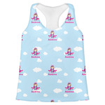 Airplane & Girl Pilot Womens Racerback Tank Top (Personalized)