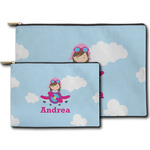 Airplane & Girl Pilot Zipper Pouch (Personalized)
