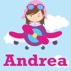 Airplane & Girl Pilot