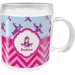 Airplane Theme - for Girls Acrylic Kids Mug (Personalized)