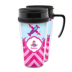 Airplane Theme - for Girls Acrylic Travel Mugs (Personalized)