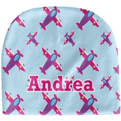 Airplane Theme - for Girls Baby Hat (Beanie) (Personalized)