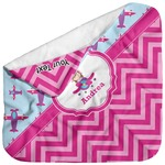 Airplane Theme - for Girls Baby Hooded Towel (Personalized)