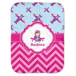 Airplane Theme - for Girls Baby Swaddling Blanket (Personalized)