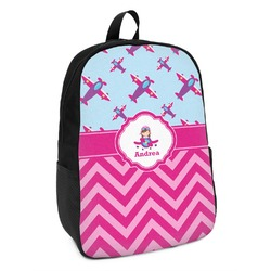 Airplane Theme - for Girls Kids Backpack (Personalized)