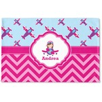 Airplane Theme - for Girls Woven Mat (Personalized)