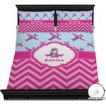 Airplane Theme - for Girls Duvet Cover Set (Personalized)