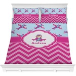 Airplane Theme - for Girls Comforter Set (Personalized)