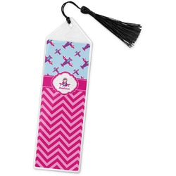 Airplane Theme - for Girls Book Mark w/Tassel (Personalized)