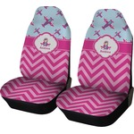 Airplane Theme - for Girls Car Seat Covers (Set of Two) (Personalized)