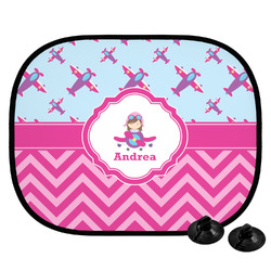 Airplane Theme - for Girls Car Side Window Sun Shade (Personalized)