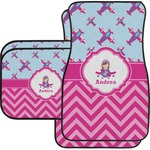 Airplane Theme - for Girls Car Floor Mats (Personalized)