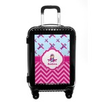 Airplane Theme - for Girls Carry On Hard Shell Suitcase (Personalized)