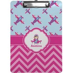 Airplane Theme - for Girls Clipboard (Personalized)