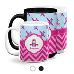 Airplane Theme - for Girls Coffee Mugs (Personalized)