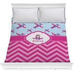 Airplane Theme - for Girls Comforter (Personalized)