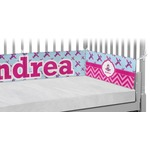 Airplane Theme - for Girls Crib Bumper Pads (Personalized)