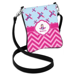 Airplane Theme - for Girls Cross Body Bag - 2 Sizes (Personalized)