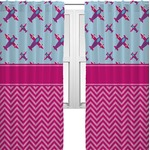 Airplane Theme - for Girls Curtains (2 Panels Per Set) (Personalized)